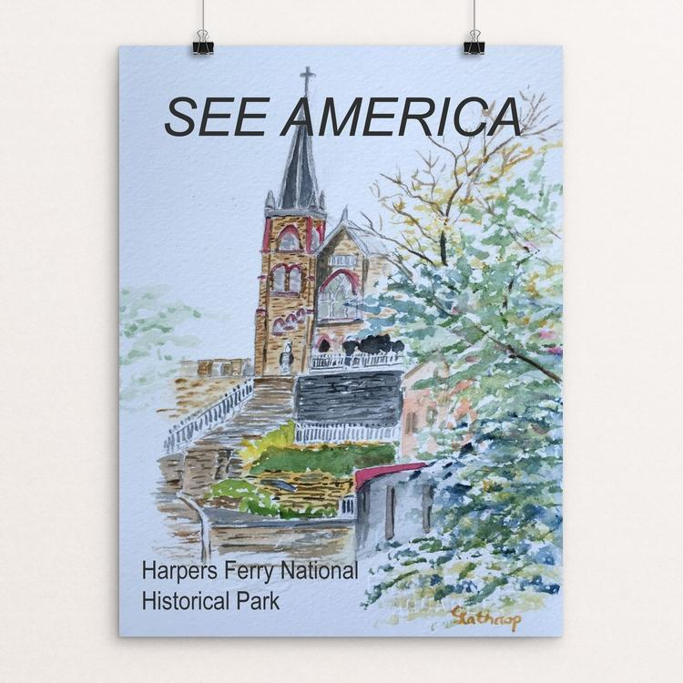 "Harpers Ferry National Historical Park by Christine Lathrop 12"" by 16"" Print / Unframed Print See America"