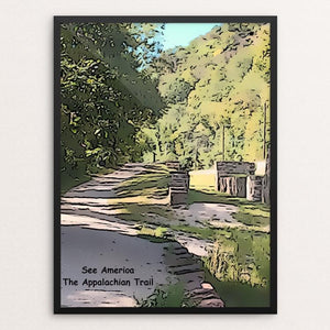 "Harpers Ferry, The Appalachian Trail by Bryan Bromstrup 18"" by 24"" Print / Framed Print See America"