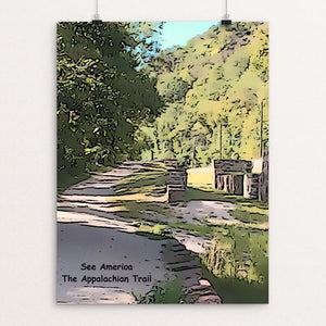 "Harpers Ferry, The Appalachian Trail by Bryan Bromstrup 18"" by 24"" Print / Unframed Print See America"