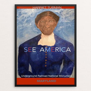 "Harriet Tubman Underground Railroad National Monument by Ginnie McKnight 12"" by 16"" Print / Framed Print See America"
