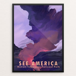 "Hawaii Volcanoes National Park by Alyssa Winans 12"" by 16"" Print / Framed Print See America"