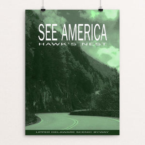 "Hawk's Nest, Upper Delaware Scenic Byway by Roger Gottlieb 12"" by 16"" Print / Unframed Print See America"