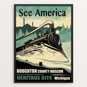 "HCHS Heritage Site by Mike Stockwell 12"" by 16"" Print / Framed Print See America"