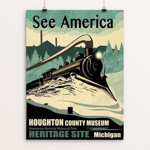 "HCHS Heritage Site by Mike Stockwell 12"" by 16"" Print / Unframed Print See America"