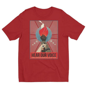 Hear Our Voice Men's T-Shirt by Liza Donovan Apple Red / S T-Shirt We Can Do It!