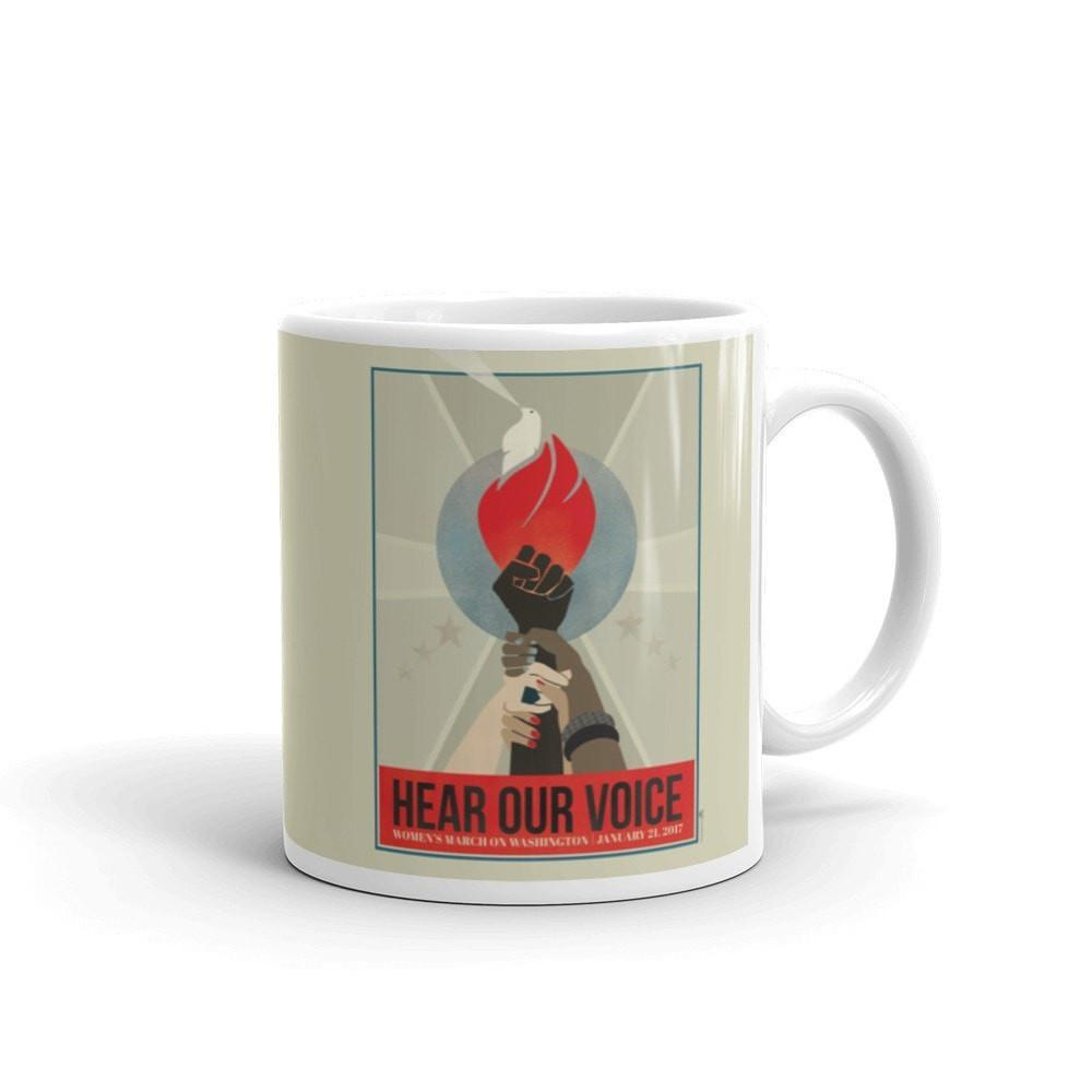 Hear Our Voice Mug by Liza Donovan