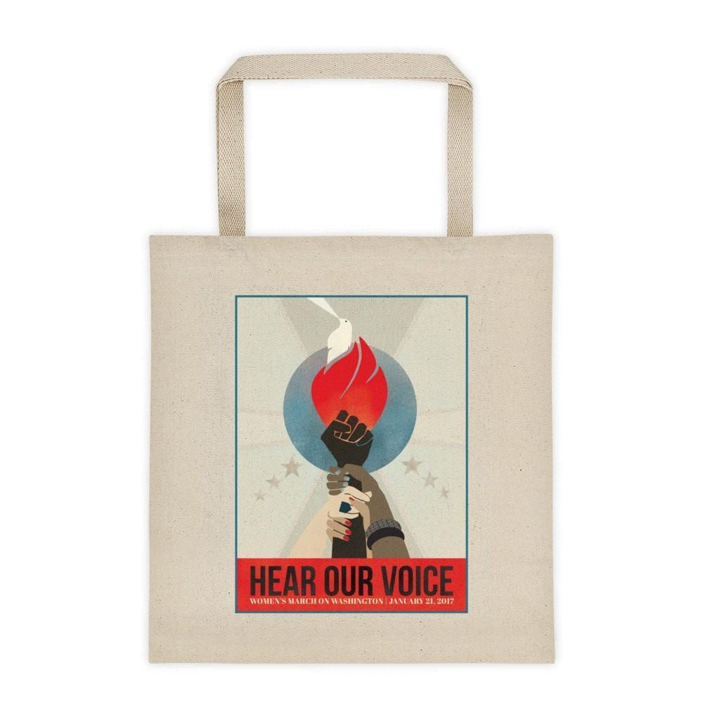 002b559d463 Hear Our Voice Tote Bag by Liza Donovan - Creative Action Network