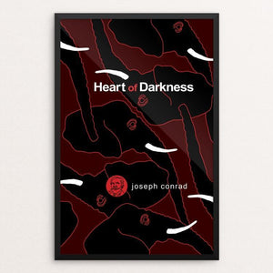 "Heart of Darkness by Robert Wallman 12"" by 18"" Print / Framed Print Recovering the Classics"