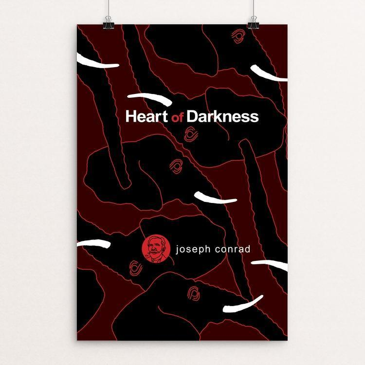 "Heart of Darkness by Robert Wallman 12"" by 18"" Print / Unframed Print Recovering the Classics"