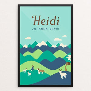 "Heidi by Helen Tseng 12"" by 18"" Print / Framed Print Recovering the Classics"