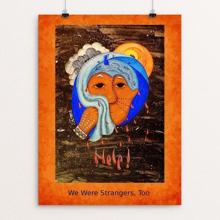 "Help by Daniela Faber 12"" by 16"" Print / Unframed Print We Were Strangers Too"