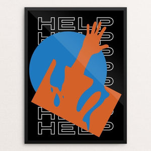"Help Us by Andrew Ballantyne 12"" by 16"" Print / Framed Print We Were Strangers Too"