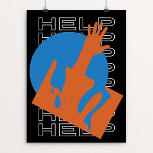 "Help Us by Andrew Ballantyne 12"" by 16"" Print / Unframed Print We Were Strangers Too"