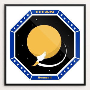 "Hermes II: A Future Mission to Titan by Daisy Patton 12"" by 12"" Print / Framed Print Space Horizons"