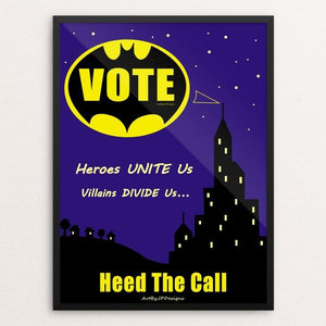 "Heroes Unite Us by JP Designs 12"" by 16"" Print / Framed Print Creative Action Network"