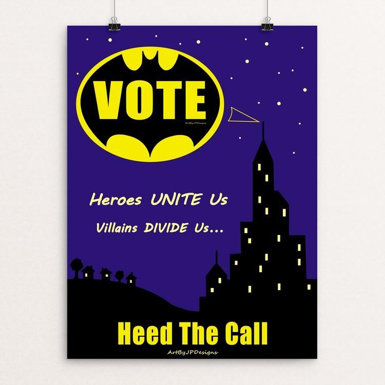 "Heroes Unite Us by JP Designs 12"" by 16"" Print / Unframed Print Creative Action Network"