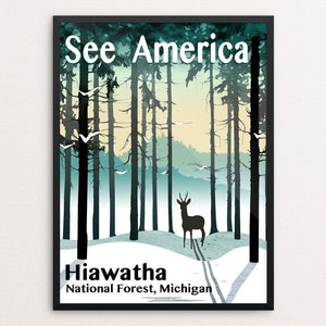 "Hiawatha National Forest by Mike Stockwell 12"" by 16"" Print / Framed Print See America"