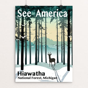 "Hiawatha National Forest by Mike Stockwell 12"" by 16"" Print / Unframed Print See America"