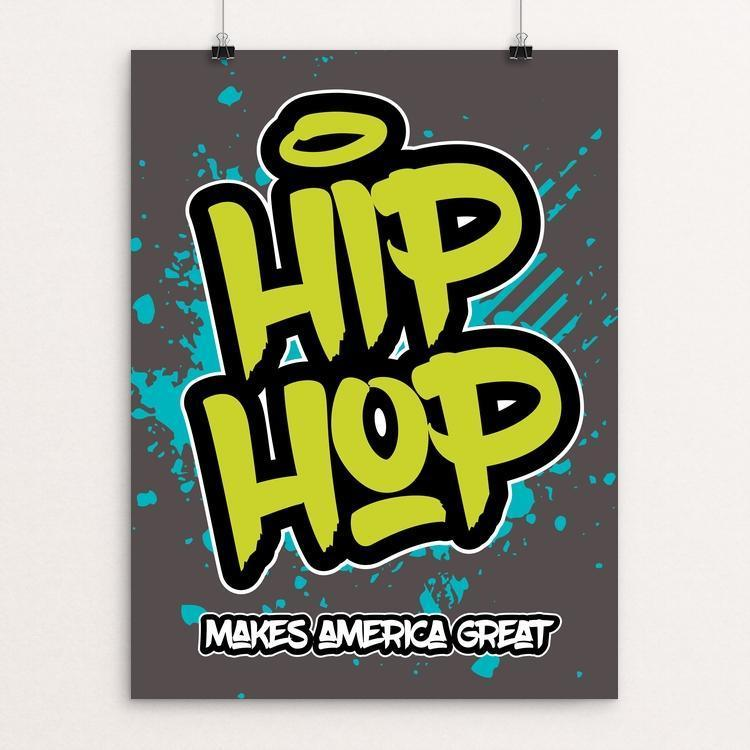 "Hip Hop by Darrell Stevens 12"" by 16"" Print / Unframed Print What Makes America Great"