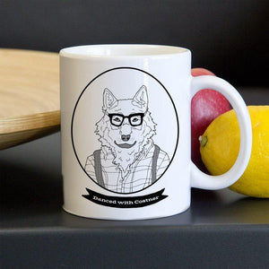 Hipster Wolf Mug by Daisy Patton 11oz Mug Join the Pack