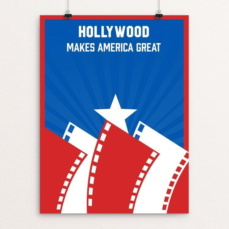 "Hollywood by Roberto Lanznaster 12"" by 16"" Print / Unframed Print What Makes America Great"