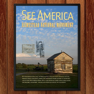 "Homestead National Monument of America by Chris Lozos 12"" by 16"" Print / Framed Print See America"