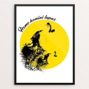 "Homo Homini Lupus by Ourilton Silva 12"" by 16"" Print / Framed Print Join the Pack"