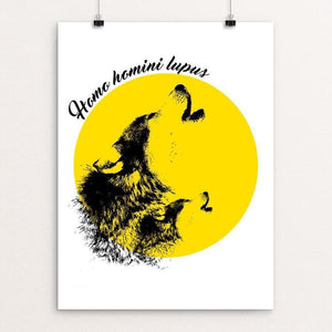 "Homo Homini Lupus by Ourilton Silva 12"" by 16"" Print / Unframed Print Join the Pack"
