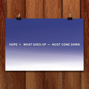 "Hope, second in a series from New Math by Craig Damrauer 18"" by 12"" Print / Unframed Print Green Patriot Posters"