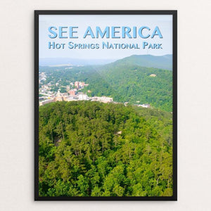 "Hot Springs National Park by Zack Frank 12"" by 16"" Print / Framed Print See America"