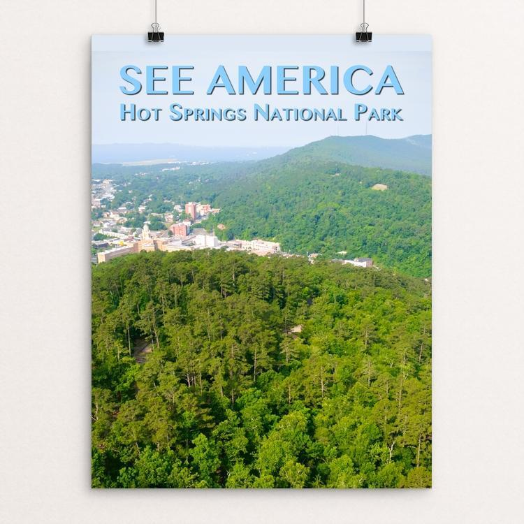 "Hot Springs National Park by Zack Frank 12"" by 16"" Print / Unframed Print See America"