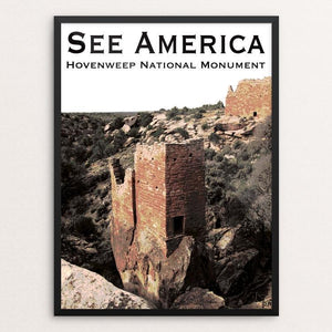 "Hovenweep National Monument by Ann Huston 12"" by 16"" Print / Framed Print See America"