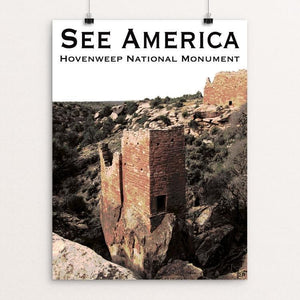 "Hovenweep National Monument by Ann Huston 12"" by 16"" Print / Unframed Print See America"