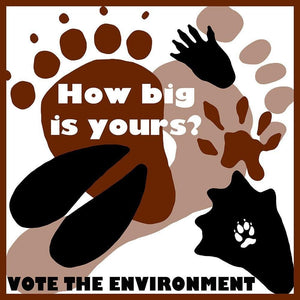 "How Big is Yours? by Lisa Hummel 12"" by 12"" Print / Unframed Print Vote the Environment"