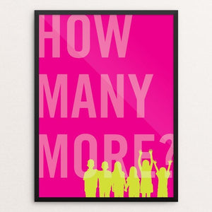 "How Many More by Darrell Stevens 12"" by 16"" Print / Framed Print The Gun Show"