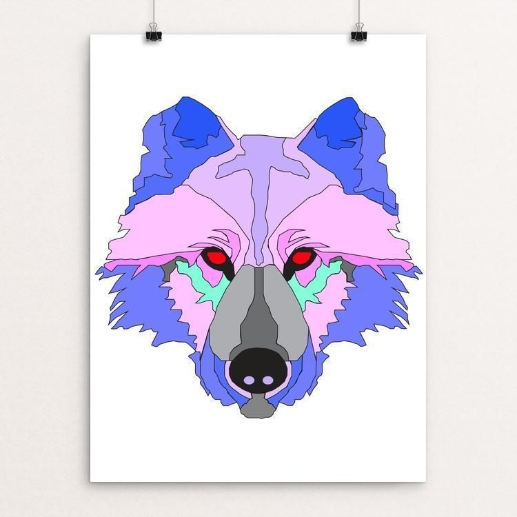 "Howling Prism by Samantha Mendez 12"" by 16"" Print / Unframed Print Join the Pack"