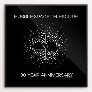 "Hubble Space Telescope by Katarina Eriksson 12"" by 12"" Print / Framed Print Space Horizons"