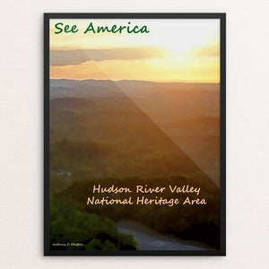 "Hudson River Valley 2 by Anthony Chiffolo 18"" by 24"" Print / Framed Print See America"