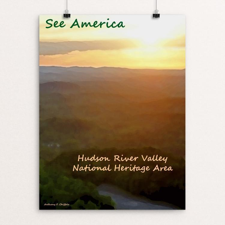 "Hudson River Valley 2 by Anthony Chiffolo 18"" by 24"" Print / Unframed Print See America"