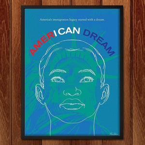 "I Can Dream by Michael Stevenson 12"" by 16"" Print / Framed Print Migration Nation"