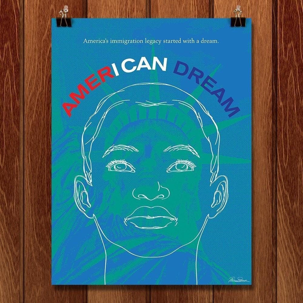 "I Can Dream by Michael Stevenson 12"" by 16"" Print / Unframed Print Migration Nation"
