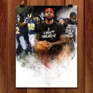 "I Can't Breathe, 2014 by Nikkolas Smith 18"" by 24"" Print / Unframed Print Transcend - Moments in Sports that Changed the Game"