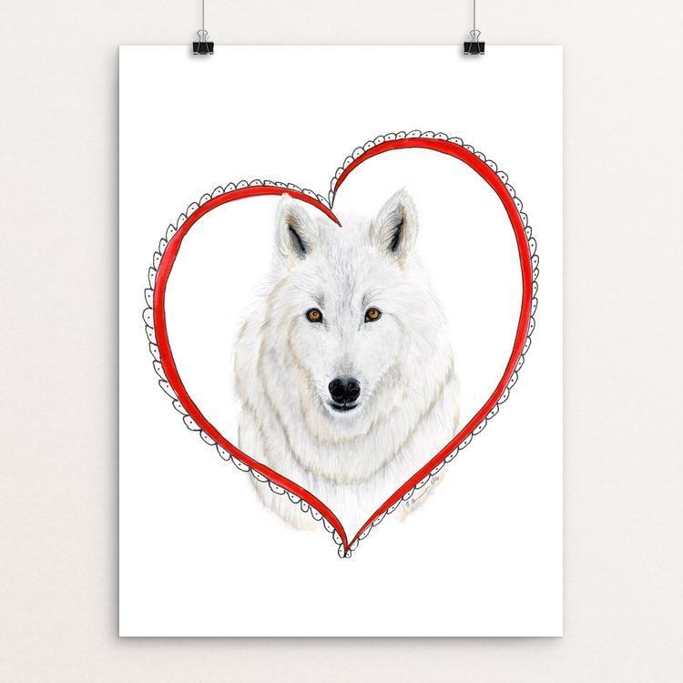 "I Heart Wolves by Brett Blumenthal 12"" by 16"" Print / Unframed Print Join the Pack"