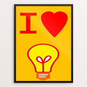 "I Love Learning by Atabey Sanchez-Haiman 12"" by 16"" Print / Framed Print Creative Action Network"