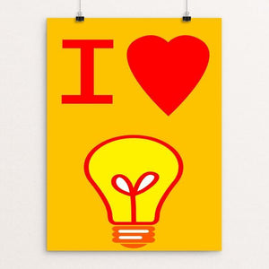 "I Love Learning by Atabey Sanchez-Haiman 12"" by 16"" Print / Unframed Print Creative Action Network"