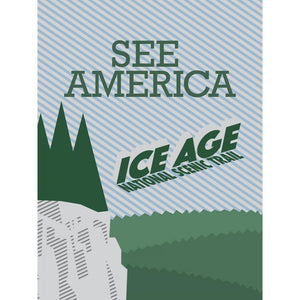"Ice Age National Scenic Trail by Brenton 18"" by 24"" Print / Unframed Print See America"