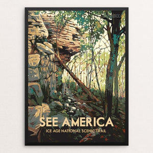 "Ice Age National Scenic Trail by Dan Gardiner 12"" by 16"" Print / Framed Print See America"
