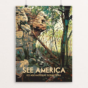 "Ice Age National Scenic Trail by Dan Gardiner 12"" by 16"" Print / Unframed Print See America"