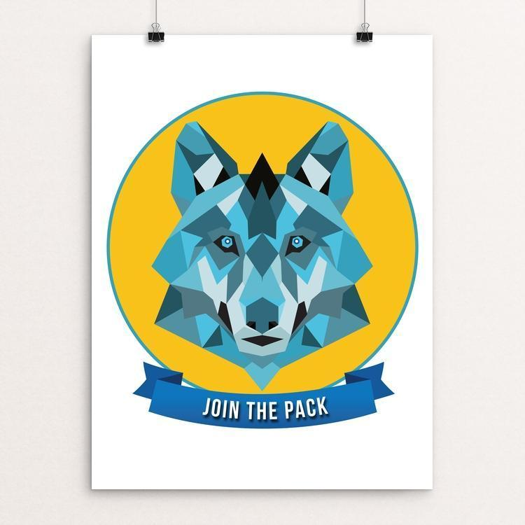 "Iconic Grey Wolf by Callie Carver 12"" by 16"" Print / Unframed Print Join the Pack"