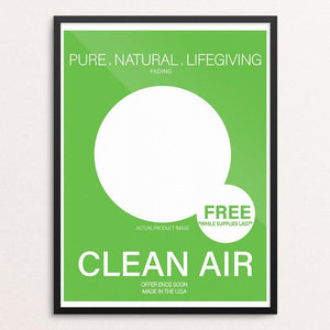 "If clean air was a product. by DeAndre Cruse 12"" by 16"" Print / Framed Print Creative Action Network"